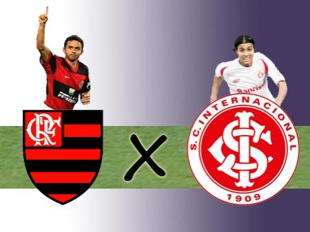 Flamengo de Juan contra o Inter de Nilmar